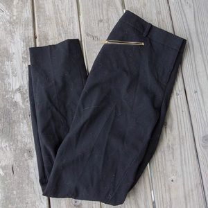 Calvin Klein black straight leg pants with zippers